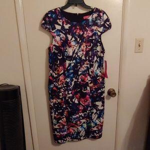 NWT Betsey Johnson Dress Multi colored size 14